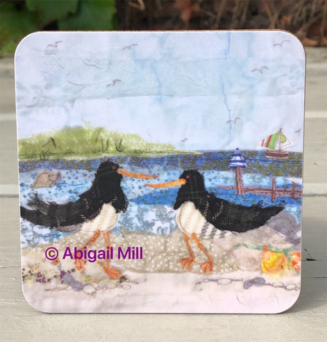 Oyster Catchers  Coaster
