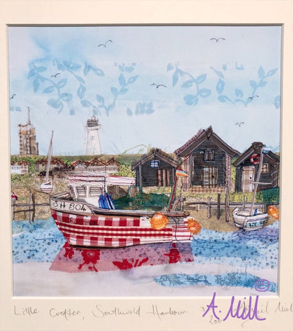 Crofter- Southwold Harbour, Giclee Print