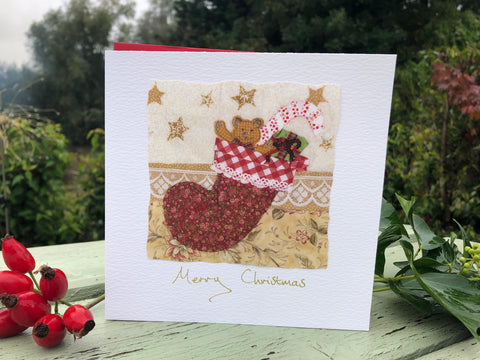 Handmade Christmas card- Stocking