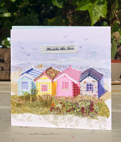 Southwold beach huts  Greetings card