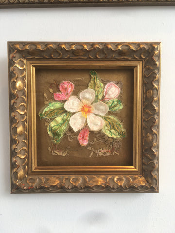Baroque small  Apple blossom embroidery