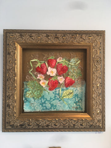 Baroque Strawberry flower embroidery