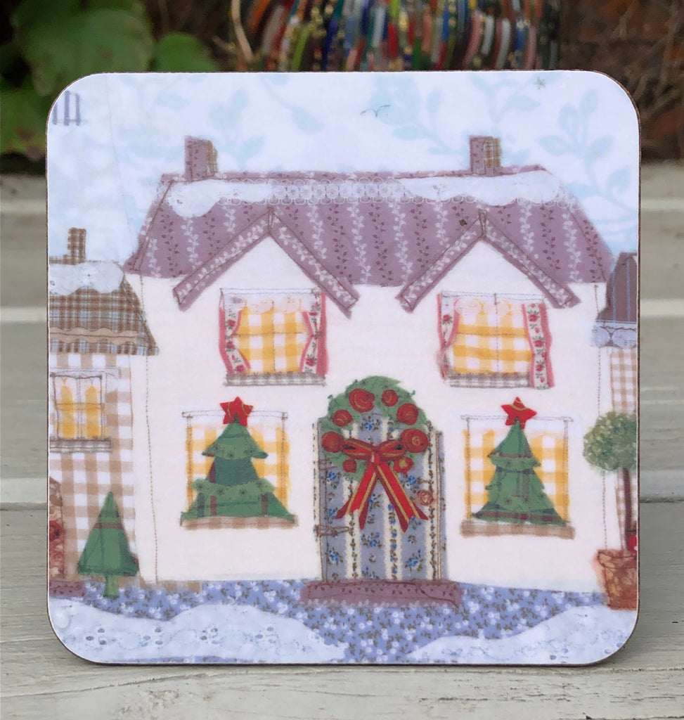 Christmas Townhouse Coaster