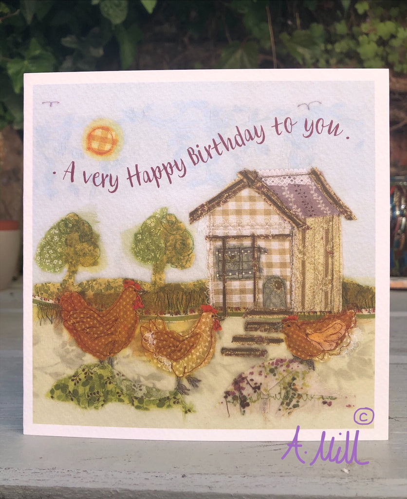 Birthday Hen house Greetings card