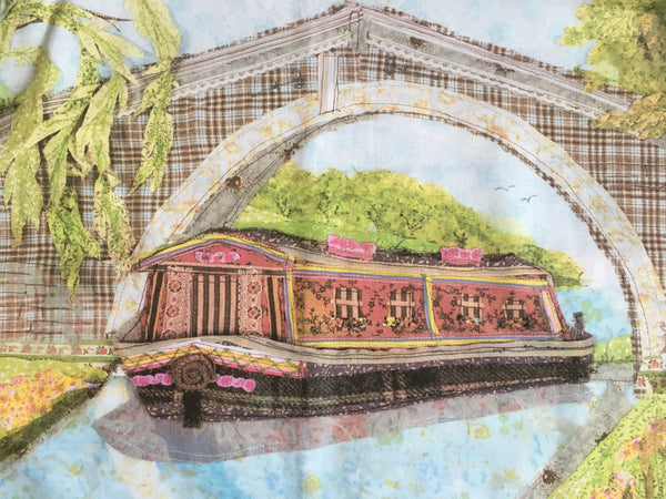 Canal Barge Tea Towel