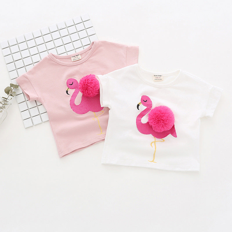 T-Shirt Flamingo - Fille - été 2018 - Popotin