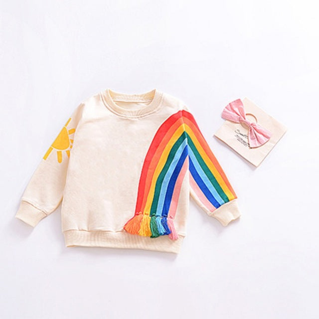 Sweat Rainbow - Fille - Automne 2018