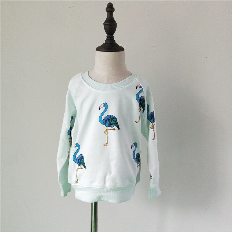 Sweat Blue Flamingo - Fille - Automne 2018