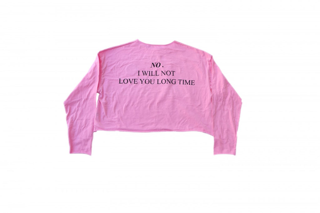 """I DONT LOVE U"" CROP TOP"