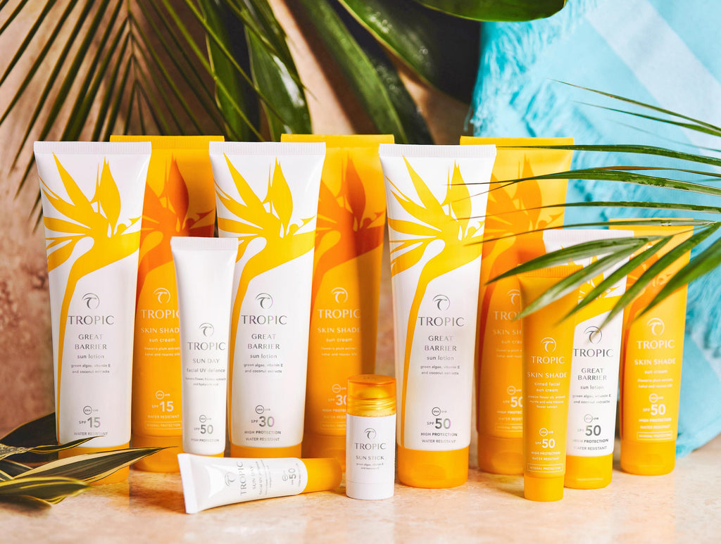 Tropic Skincare Sun Care Range