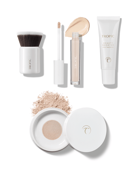 FLAWLESS ECO COLLECTION with kabuki brush