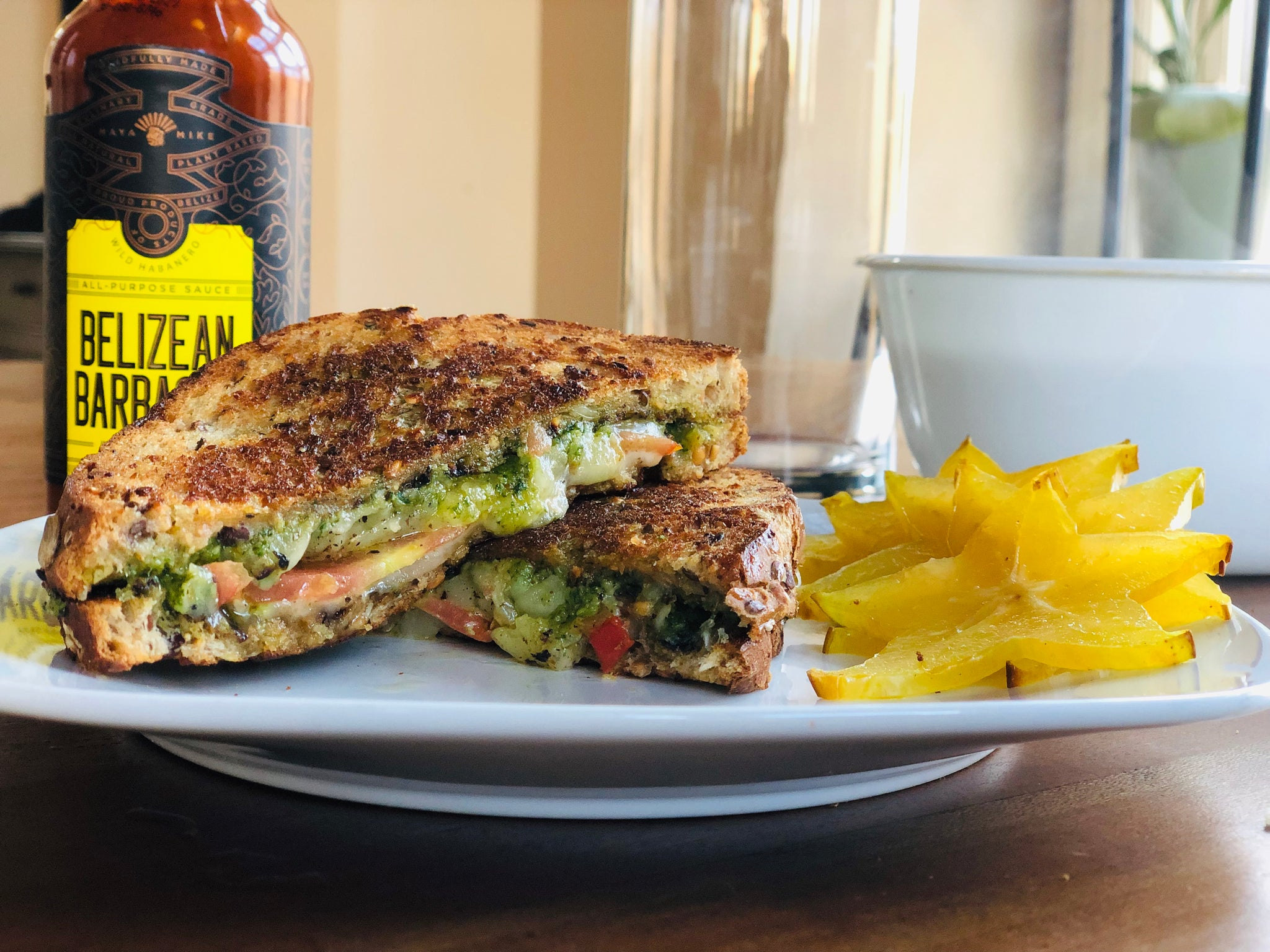 ⭐ Gold Star Grilled Cheese with BARBACOA Pesto 🌿