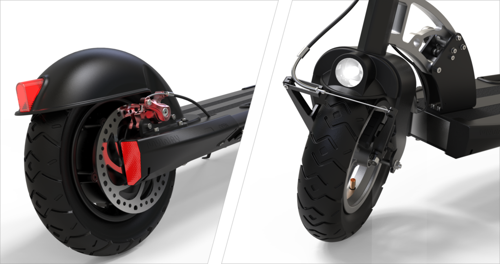 Inokim Quick 3 Electric Scooter Font and Rear Light