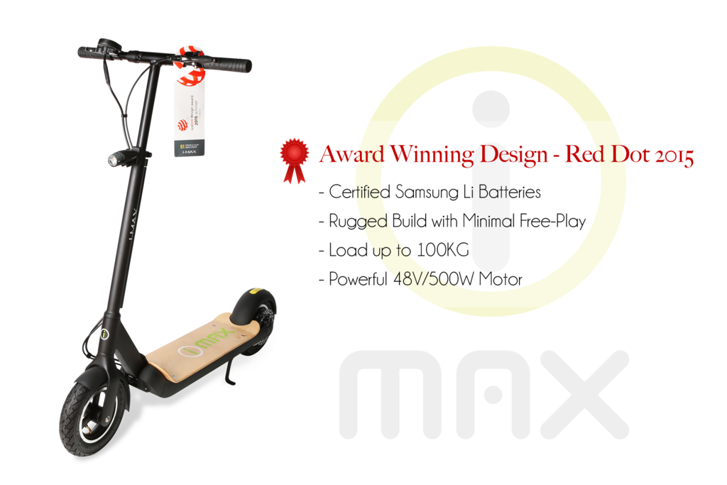 i-Max S1 RedDot Design Award Electric Scooter Best in Malaysia