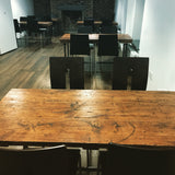 Dining Table Industrial Modern Rustic Reclaimed Timber Wood 3 Planks Raw Steel Legs