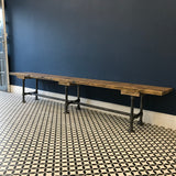 Bench / Industrial / Modern Rustic / Reclaimed Timber Wood /  2 Plank / Steel Legs