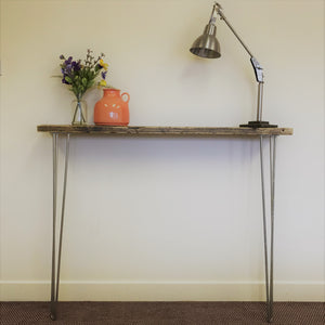 Console Table Hairpin Legs Industrial Rustic Reclaimed Timber