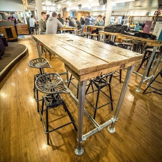 d6200e54b85 Breakfast Bar   High Table   Dining Table   Kitchen Island Industrial  Modern Rustic Reclaimed Timber ...