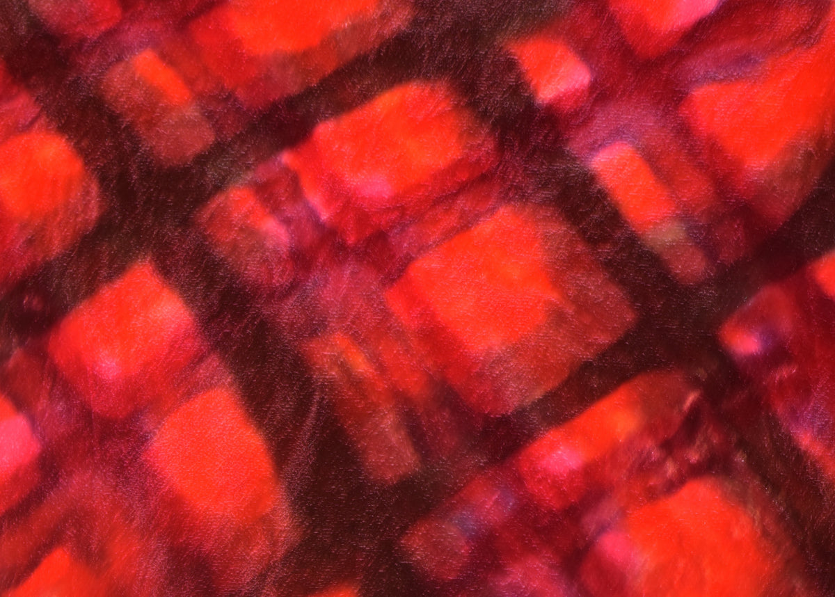 Tartan Hand Painted Velvet Lampshade – Red/pinks