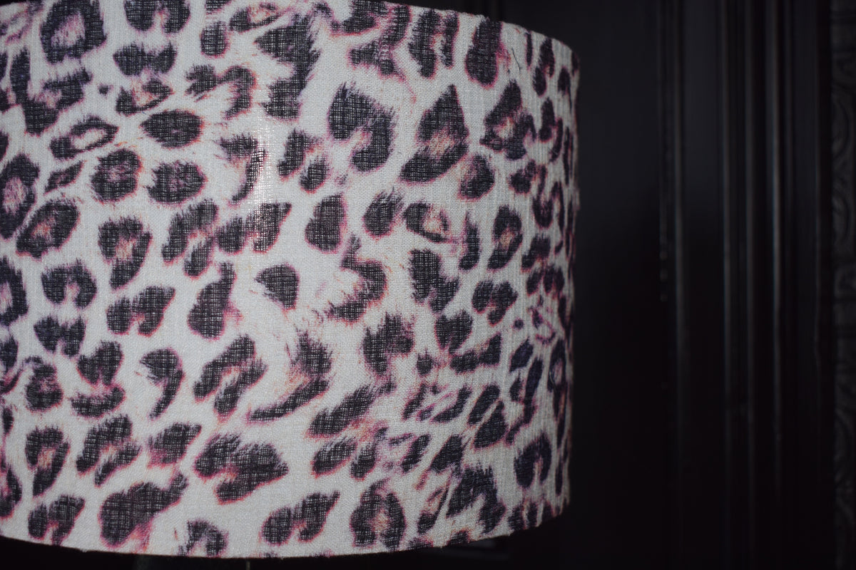 ,Kirsty Recycled Fabric Lampshade close up of the fabric