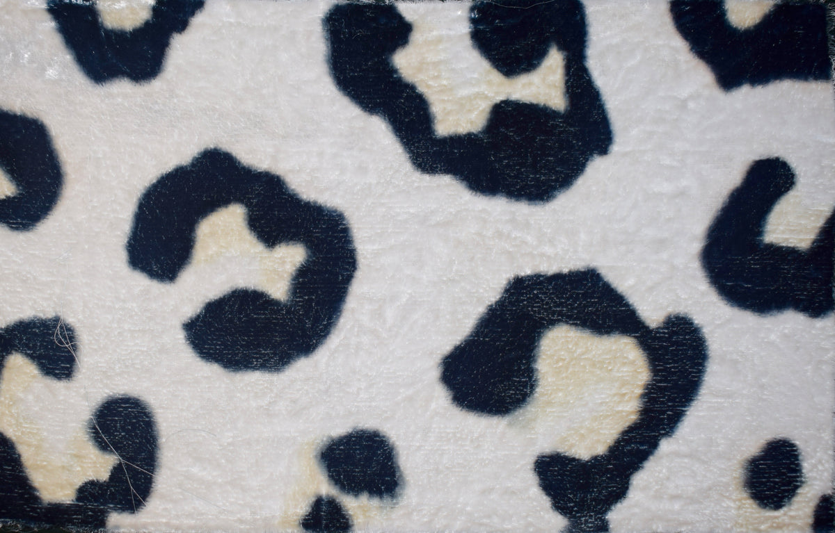 Leopard Hand Painted Velvet Cushion black and white colour-way.