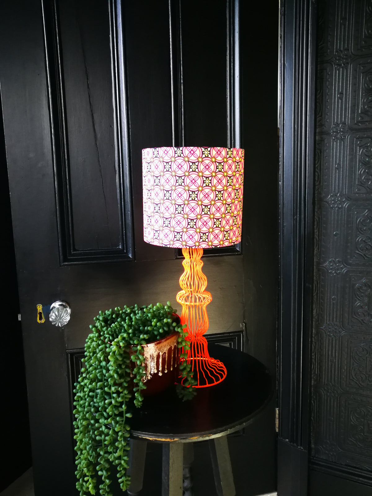 Lucy Recycled Fabric Lampshade 20cm lamp fitting