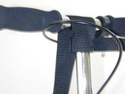 Attaching the carry strap to the handlebar