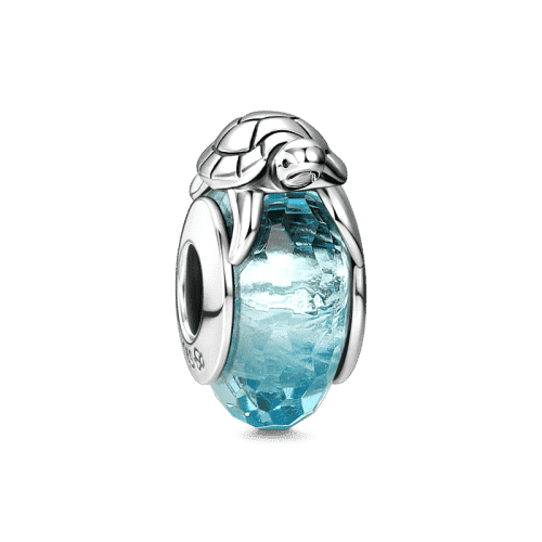 Pandora Compatible 925 sterling silver Turtle Glass Bead Silver From CharmSA Image 1