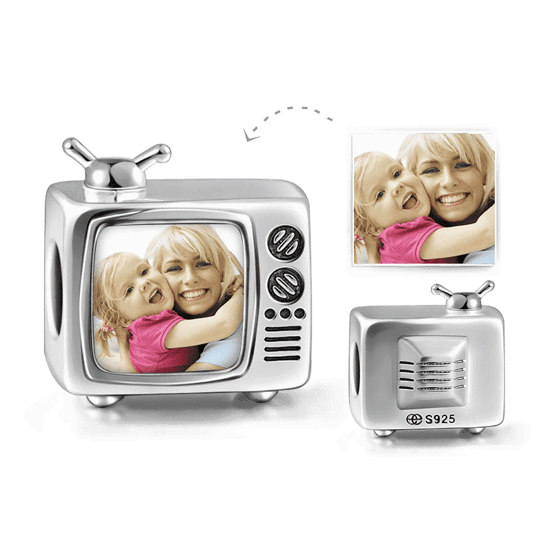 TV Design Photo Charm Silver