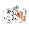 Pandora Compatible 925 sterling silver Swarovski Crystal Love Photo Album Photo Charm Silver From CharmSA Image 2