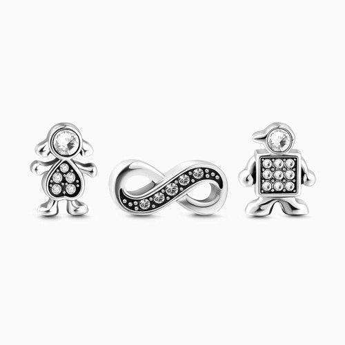 Boy and Girl Petite Locket Charms Set