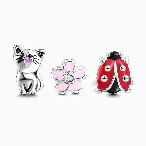 Spring Comes Petite Locket Charms Set Silver