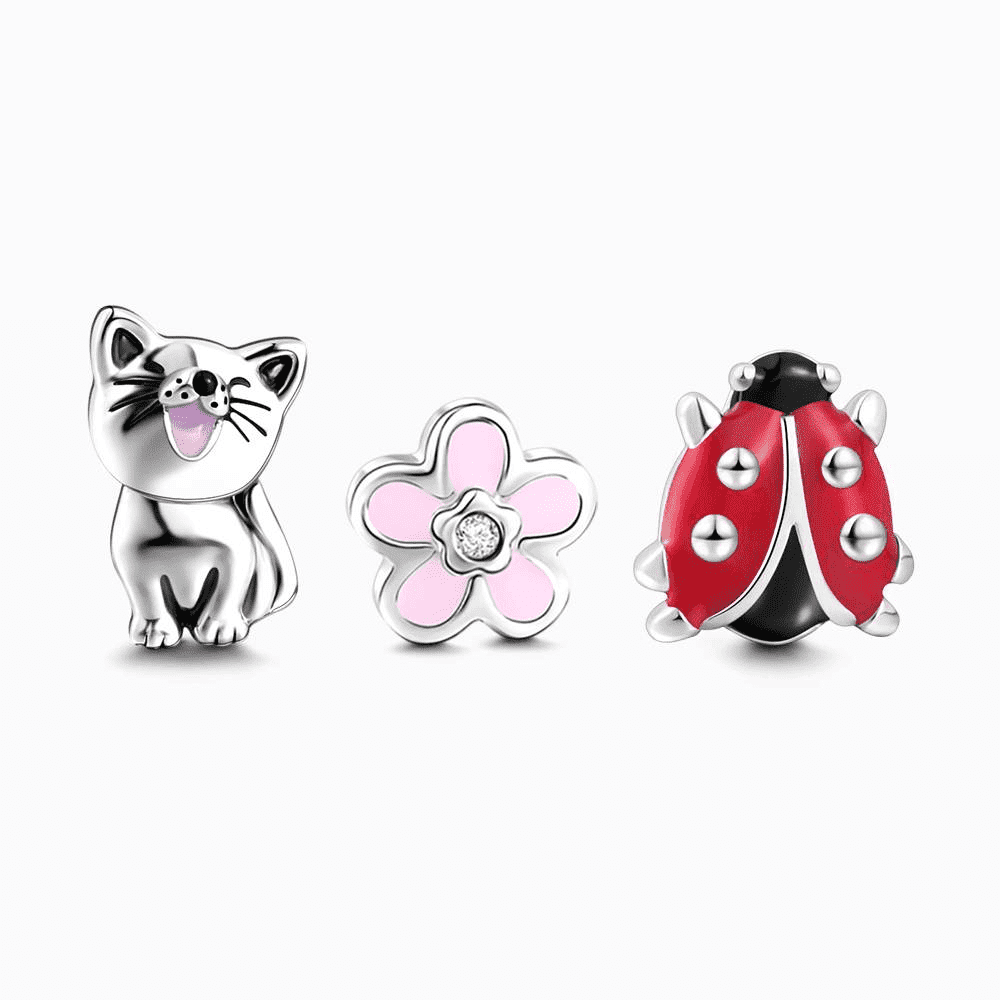 Spring Comes Petite Locket Charms Set Silver CLT-005 Soufeel South 1179