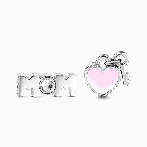 Love My Mom Petite Locket Charms Set Silver