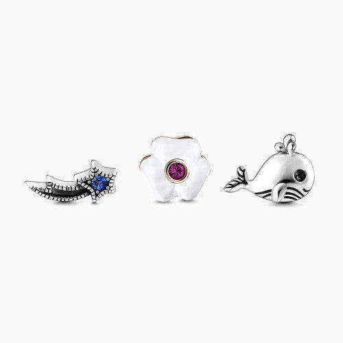Whale Petite Locket Charms Set Silver From CharmSA Image 1