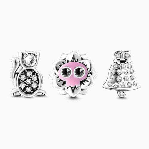 Merry Christmas Petite Locket Charms Set Silver