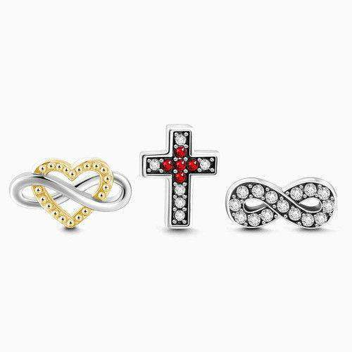 Love and Faith Petite Locket Charms Set Silver From CharmSA Image 1
