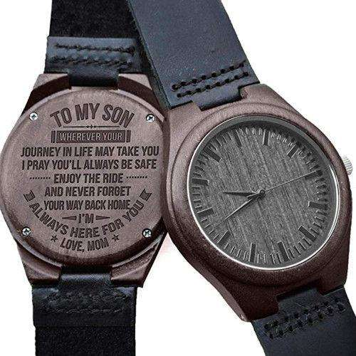 Black wooden watch mom to son From CharmSA Image 1