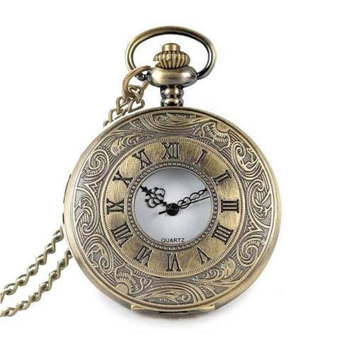 Pendant Watch Pocket Watch Vintage Quartz Bronze