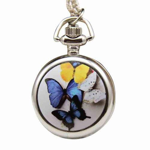 Pocket Watch Pendant Watch Butterfly
