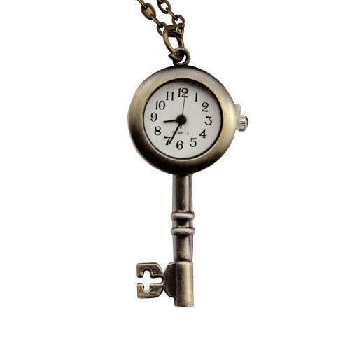 Pendant Watch Vintage Quartz Key Bronze