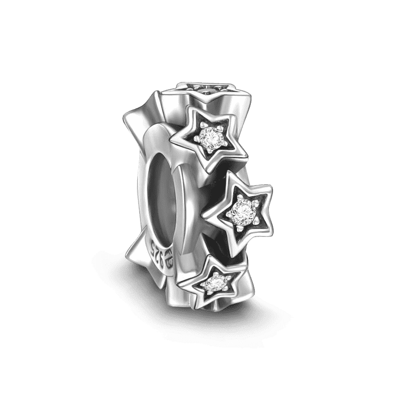 Pandora Compatible 925 sterling silver Stars Stopper Charm Charm From CharmSA Image 1