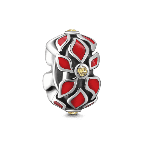 Pandora Compatible 925 sterling silver Poinsettia Stopper Silver From CharmSA Image 1