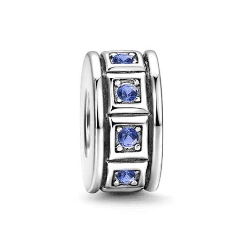 Blue Lattice Stopper Silver