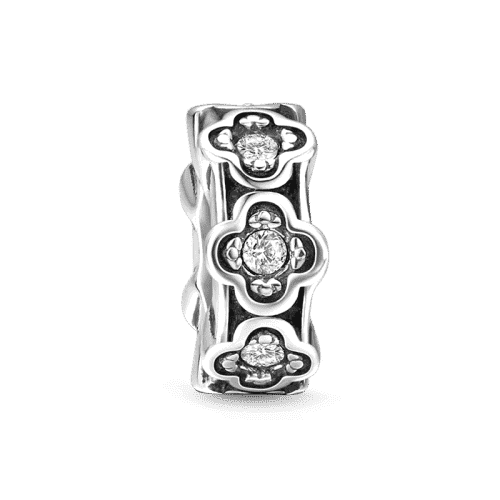Pandora Compatible 925 sterling silver Flowers of Happiness Stopper Silver From CharmSA Image 1