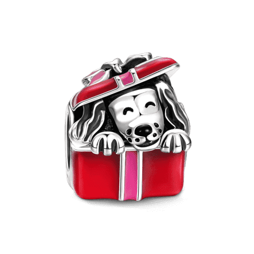 Pandora Compatible 925 sterling silver Dog in Gift Box Charm From CharmSA Image 1