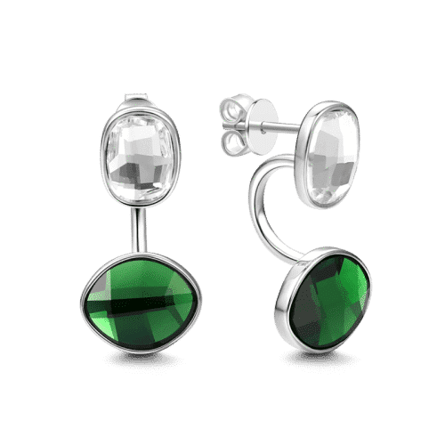 Green Glow Earrings Silver From CharmSA Image 1