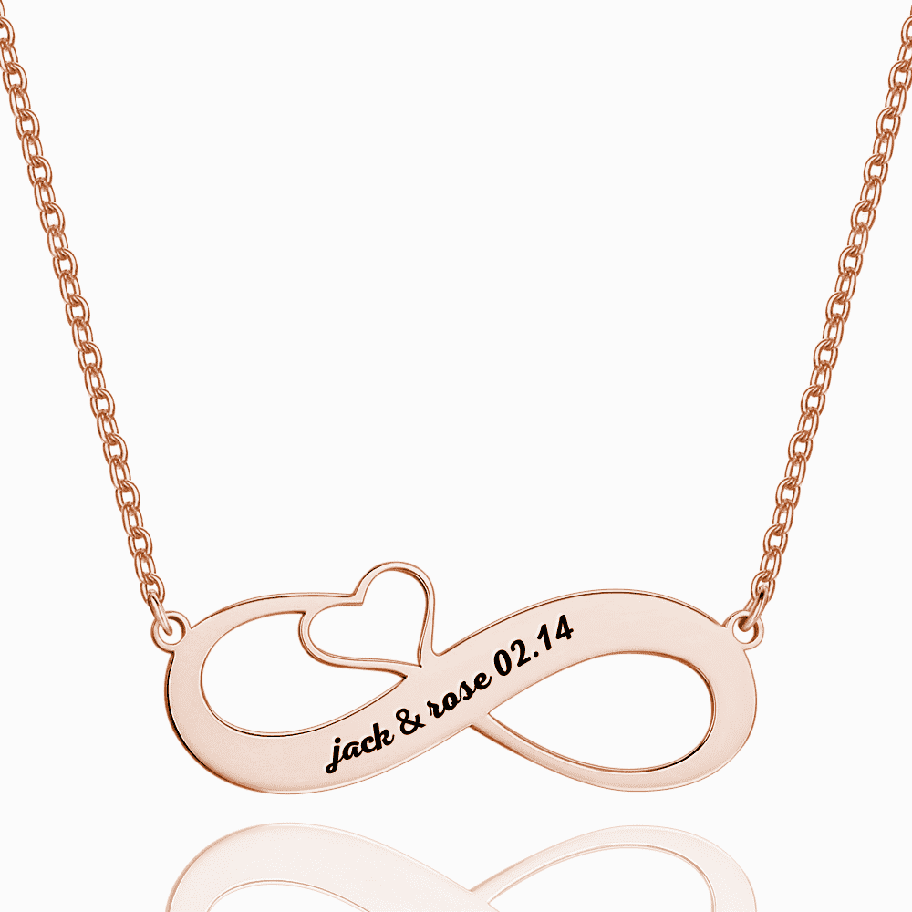 Engraved Name Necklace Rose Gold Plated Silver From CharmSA Image 1