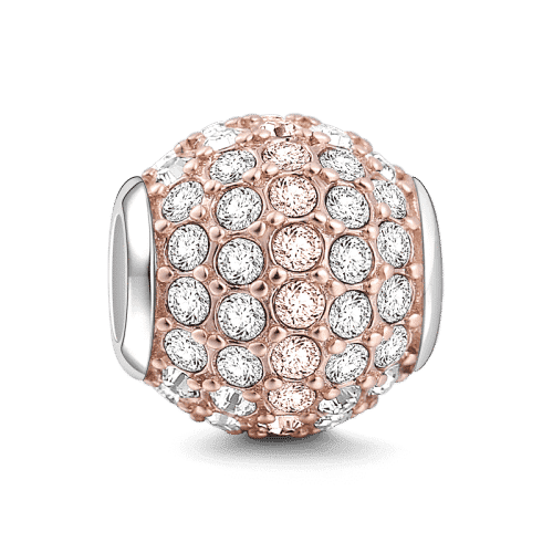 Pandora Compatible 925 sterling silver Radiance Charm Rose Gold Plated Silver From CharmSA Image 1