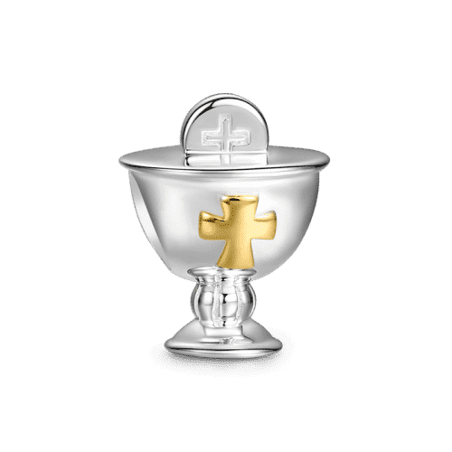 Pandora Compatible 925 sterling silver Holy Grail Charm 14k Gold Plated From CharmSA Image 1